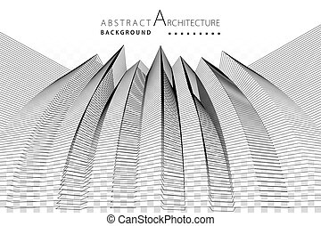 3D illustration Architecture Construction Abstract Background.