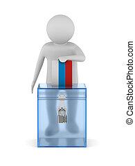 3d, illustration, arrière-plan., blanc, isolé, vote