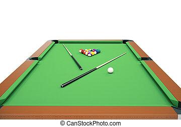 Concept balles mare illustration billard vert jeu - Taille billard snooker ...