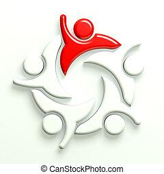 3D Illustration Business Leader