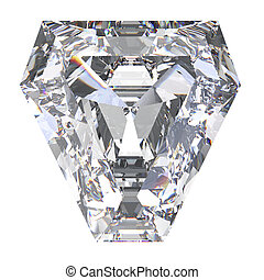 3D illustration calf diamond stone