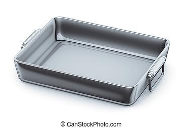 casserole steel - 3d illustration, casserole steel