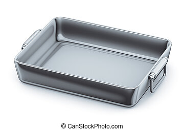 3d illustration, casserole steel