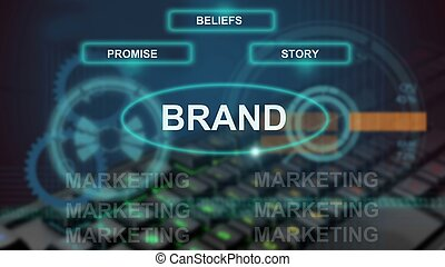 3D illustration - concept of brand