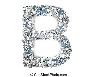 Crystal Letter - B