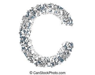 Crystal Letter - C