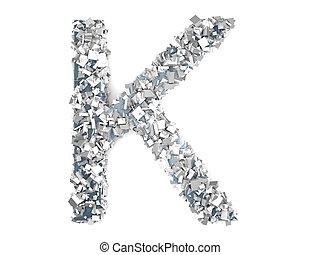 Crystal Letter - K