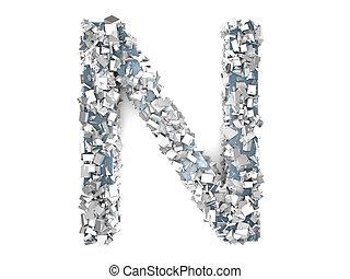 Crystal Letter - N