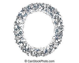Crystal Letter - O