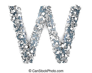 Crystal Letter - W