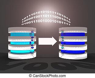 3d illustration. Database backup concept