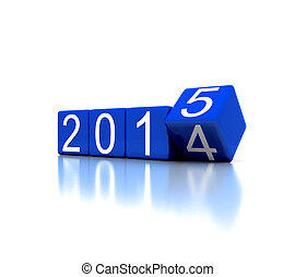 2015 - 3D illustration - dice with new year 2015