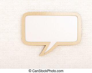 Empty speech bubble
