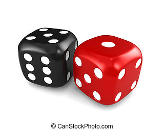 Dice - 3D Illustration Featuring a Pair of Dice