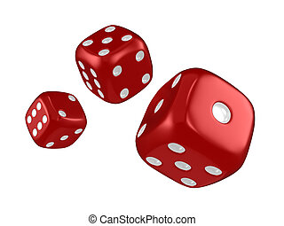 Dice - 3D Illustration Featuring Thrown Dice