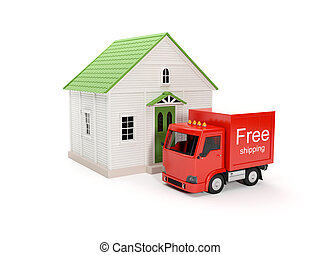 3d illustration: Free delivery to your home