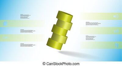 3D illustration infographic template with cylinder...