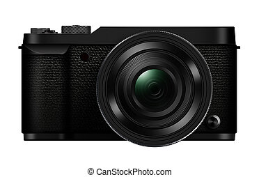 3D illustration interchangeable lens Mirrorless camera...