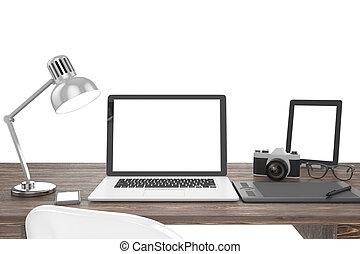 Scrivania Con Monitor A Scomparsa.Tavolo Per Laptop Isla Lilla Ukc Teiguethercont Ml