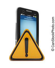 3d illustration: Mobile technology. communication error