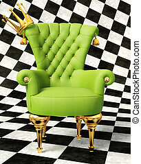 3d illustration - modern interior room with nice furniture...