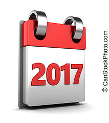 2017 year calendar - 3d illustration of 2017 year calendar...