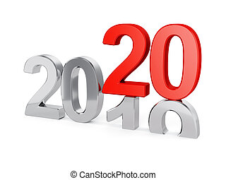 2020 New Year concept isolated