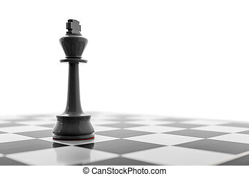 black king on a chess board