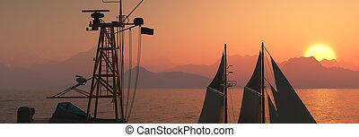 coast guard ship in the sea