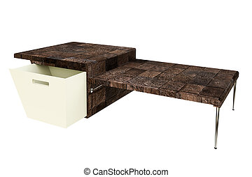 coffee table - 3d illustration of a coffee table isolated on...