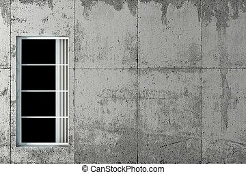 concrete wall - 3d illustration of a concrete wall
