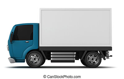 3D Illustration of a Delivery Truck