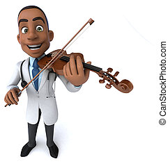 3D Illustration of a doctor volonist
