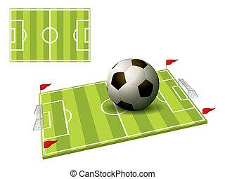 3d illustration of a football field