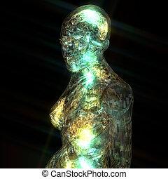 3D Illustration of a human Anatomy
