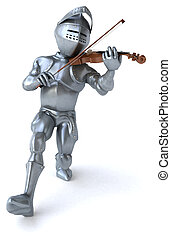 3D Illustration of a knight volonist