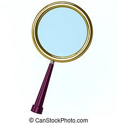 3d illustration of a magnifying len