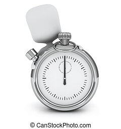 Timer - 3D Illustration of a Man Holding a Giant Timer
