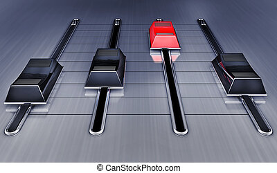 3D illustration of a mixing concept