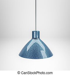 3d illustration of a modern lamp