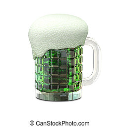 3D Illustration of a Mug with Beer