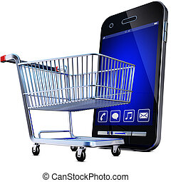 online shopping - 3D illustration of a online shopping...