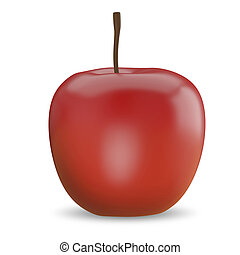 3D Illustration of a Red Apple