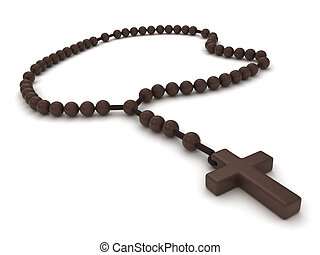 Rosary - 3D Illustration of a Rosary