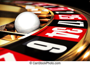 3D illustration of a roulette concept