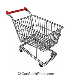 Shopping Cart - 3D Illustration of a Shopping Cart