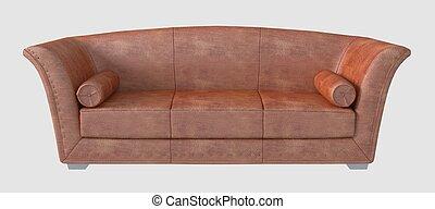 3D Illustration of a Sofa