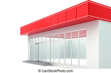3D illustration of a store kiosk
