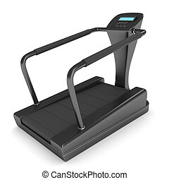 Treadmill - 3D Illustration of a Treadmill