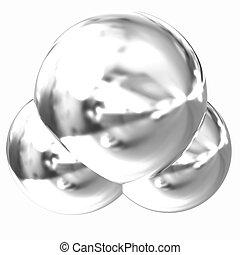 3d illustration of a water molecule